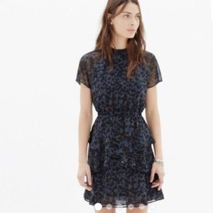 Madewell Radiant Dress in Inkspot Leopard Size 6
